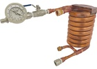 Wort Chiller - Counterflow Chiller Assembly (With In-Line Thermometer)