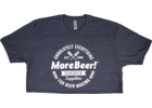 MoreBeer! Absolutely Everything - Midnight Navy T-Shirt