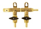 Gas Manifold - 2 Way (Brass)