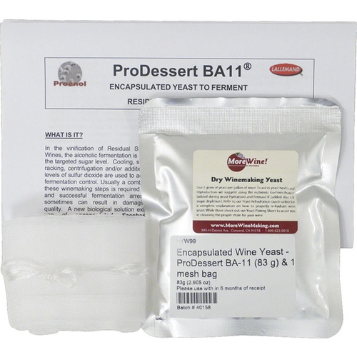 Encapsulated Wine Yeast - ProDessert BA-11 (83 g) & 1 mesh bag