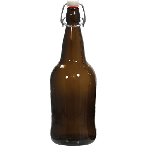 EZ Cap Swing Top Beer Bottles - 32 oz. Amber (Case of 12)