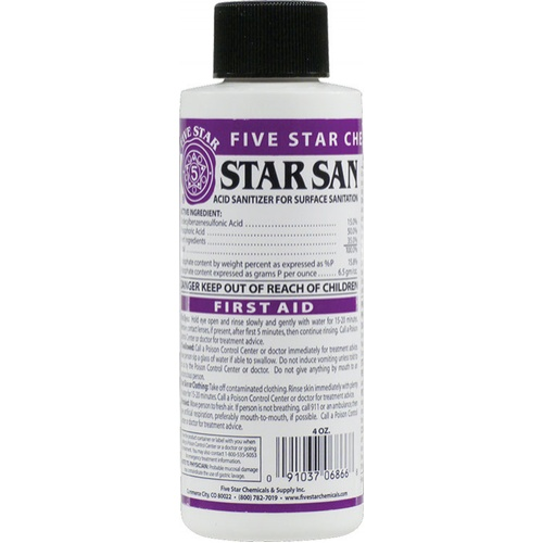 Star San Sanitizer - 4 oz.