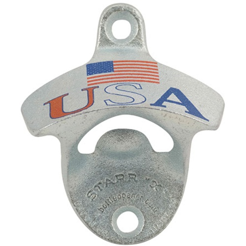 USA with Flag Wall Mount Bottle Opener