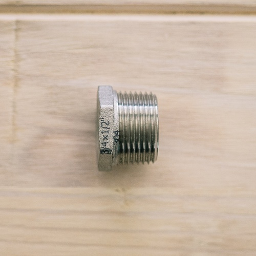 Stainless Bushing - 1/2 in. FPT x 3/4 in. MPT