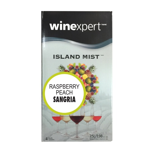Winexpert Island Mist Raspberry Peach Sangria Wine Recipe Kit