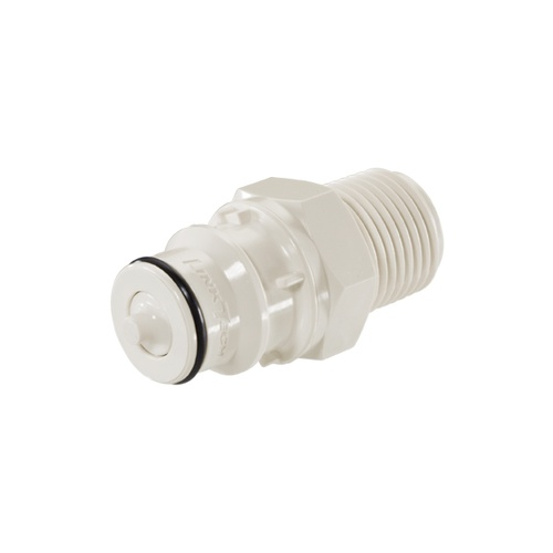 High Temp Plastic Male QD - 1/2 in. MPT W/ Shutoff Valve