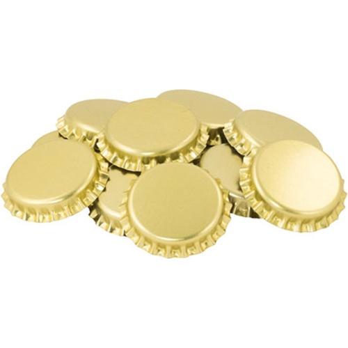 Crown Caps - Gold - Oxygen Barrier - Case of 10,080