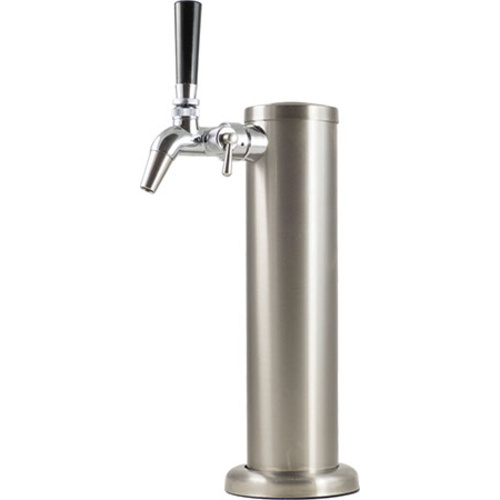 Stainless Draft Tower With Intertap Flow Control Faucet