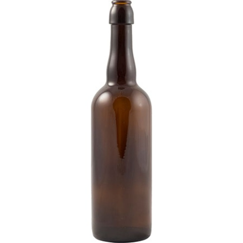 2-Way Beer Bottle (Cap or Swing Top) - 750mL Amber (Case of 12)