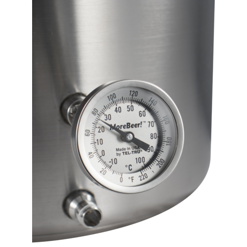 MoreBeer!® Adjustable Dial Thermometer - 3 in. Face x 2 in. Probe
