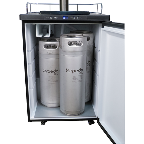 Kegerator With Stainless Steel Intertap Faucets
