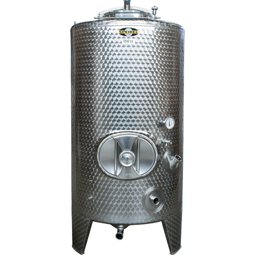 1250 l (330 gal) Speidel Sealed Tank with Manway, Top Hatch & Max Jacket