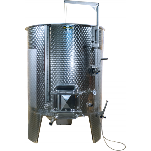 2200 l (581 gal) Speidel Variable Volume Max Jacketed Dish Bottom Tank with Oversized Manway, Extended Legs