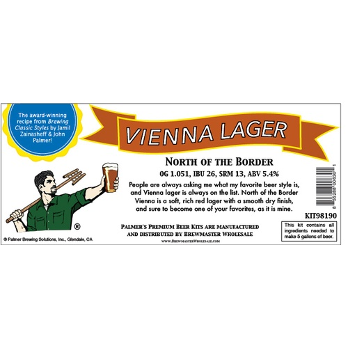 Palmer Premium Beer Kits - North of the Border - Vienna Lager