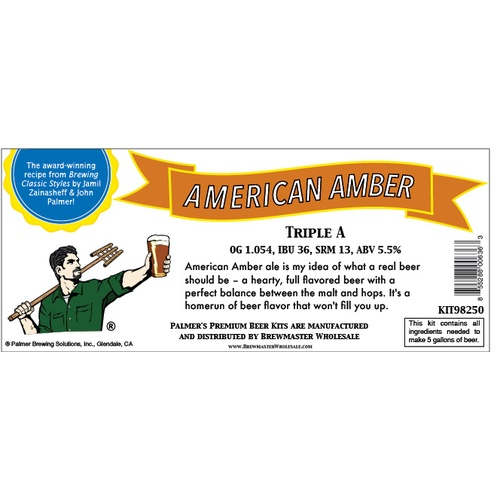 Palmer Premium Beer Kits - Triple A - American Amber