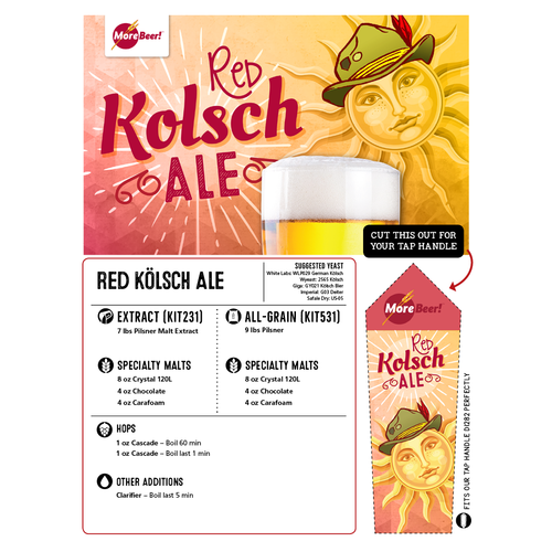 Red Kolsch Ale - All Grain Beer Brewing Kit (5 Gallons)