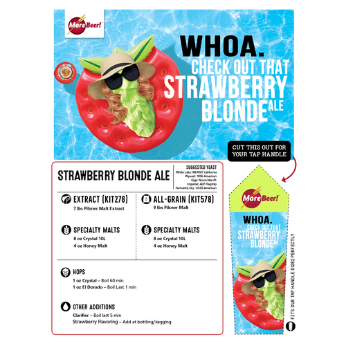 Strawberry Blonde Ale - Extract Beer Brewing Kit (5 Gallons)
