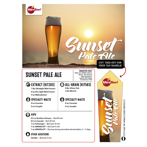 Sunset Pale Ale - All Grain Beer Brewing Kit (5 Gallons)