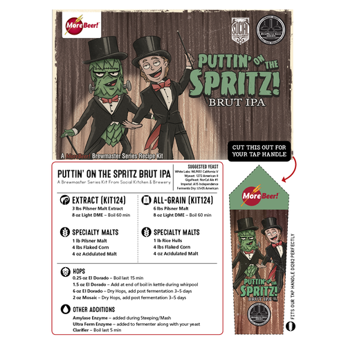 Social Kitchen & Brewerys Puttin on the Spritz Brut IPA - Extract Beer Brewing Kit (5 Gallons)