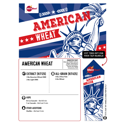 American Wheat - All Grain Beer Brewing Kit (5 Gallons)