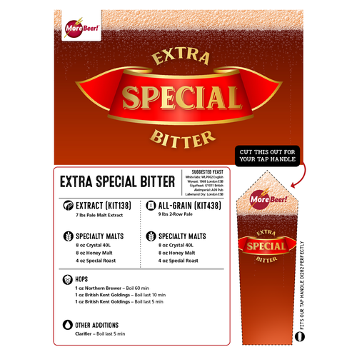 Extra Special Bitter Ale - All Grain Beer Brewing Kit (5 Gallons)