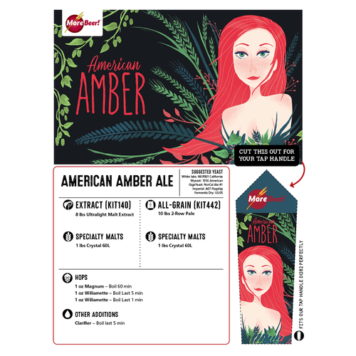 American Amber Ale - Extract Beer Brewing Kit (5 Gallons)