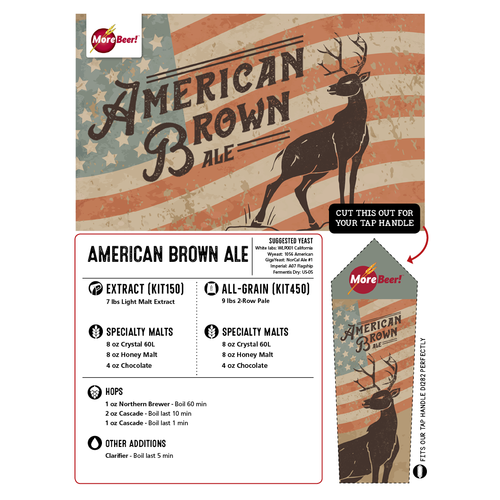 American Brown Ale - Extract Beer Brewing Kit (5 Gallons)