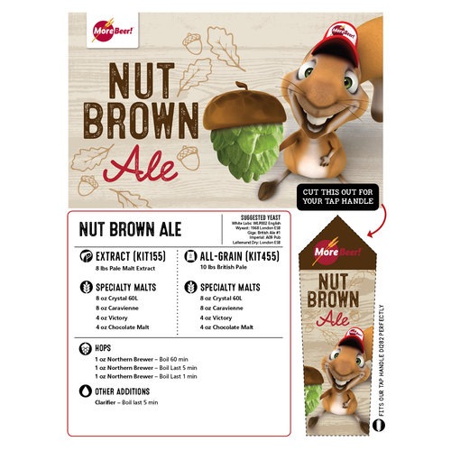 Nut Brown Ale - All Grain Beer Brewing Kit (5 Gallons)