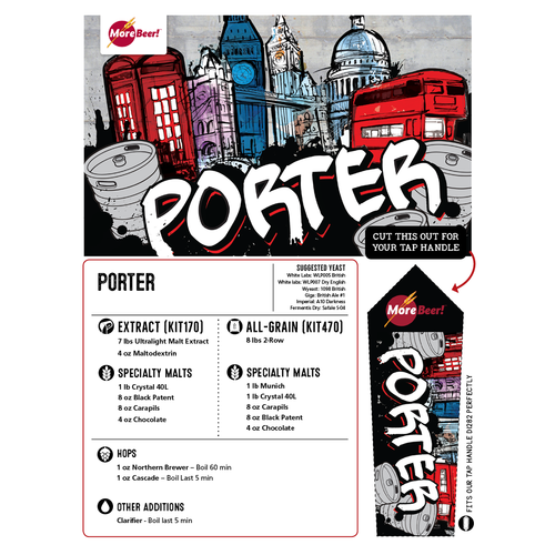 Porter - All Grain Beer Brewing Kit (5 Gallons)
