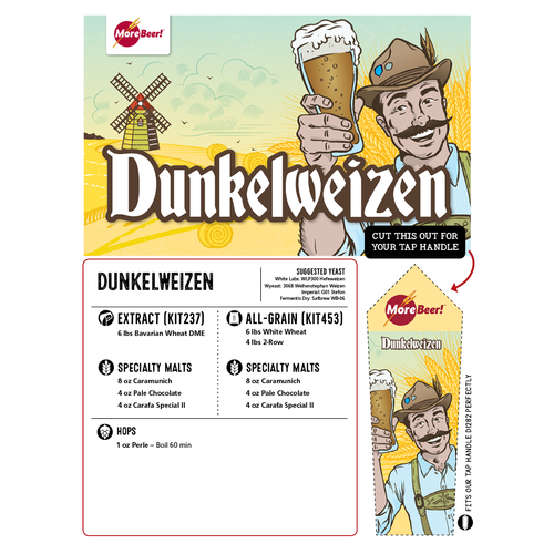 Dunkelweizen - All Grain Beer Brewing Kit (5 Gallons)