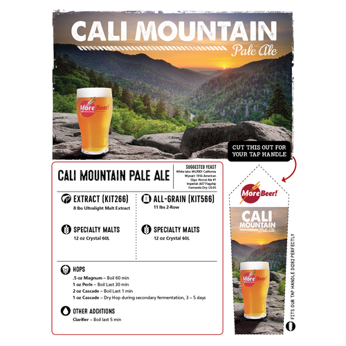 Sierra Nevada Pale Ale Clone - Cali Mountain (Extract)
