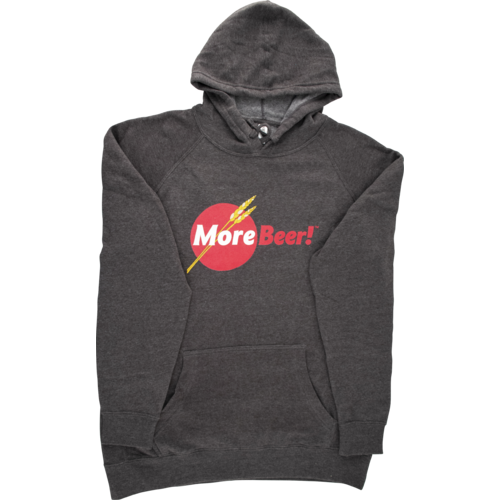 MoreBeer! Logo - Hooded Sweatshirt (Carbon)