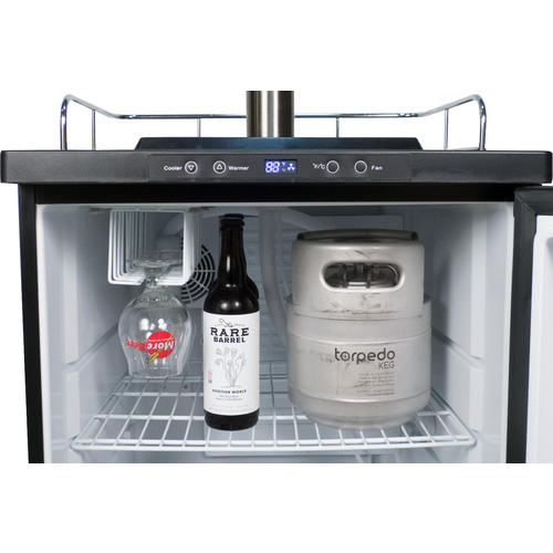 KOMOS™ Kegerator with Stainless Steel Intertap Faucets