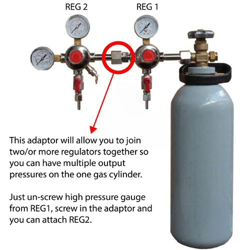 Add-on CO2 Regulator Adapter