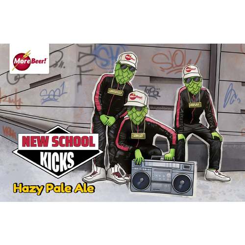 New School Kicks Hazy Pale Ale - All Grain Beer Brewing Kit (5 Gallons)