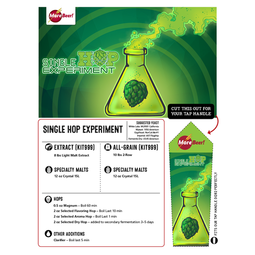The HBC 472 Single Hop Experiment - All Grain Beer Brewing Kit (5 Gallons)