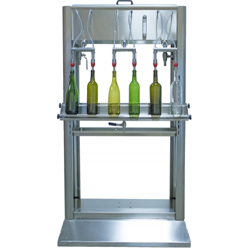Wine Bottle Filler (Professional) - 6 Spout on Cart