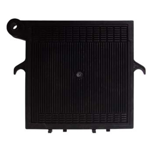 20x20 Noryl End Plate (Black) - Handle Side