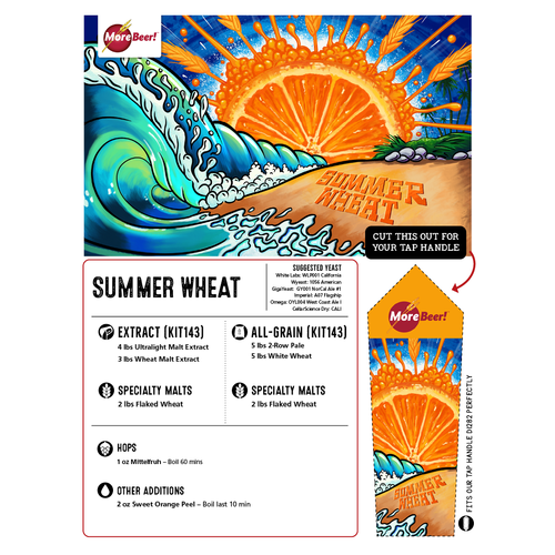Summer Wheat - All Grain Beer Brewing Kit (5 Gallons)