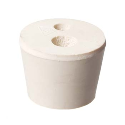 Rubber Stopper - Size #6.5 (With 2 Holes)