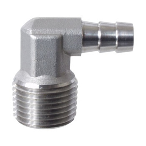 Stainless Elbow Barb - 3/8 in. x 1/2 in. MPT