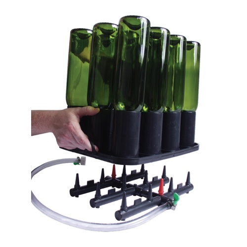 Bottle Rinsing or Purging Rack