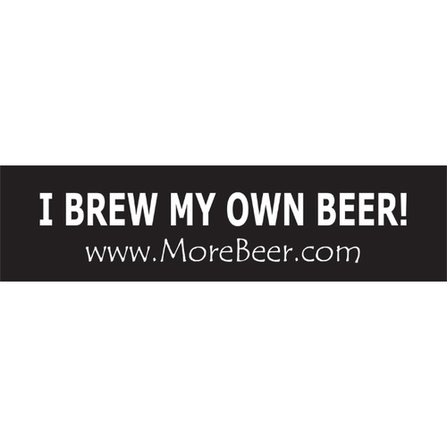 Bumper Sticker - I Brew My Own Beer!