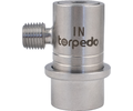 Torpedo Ball Lock Disconnect Gas In (Stainless) - 1/4 in. MPT