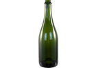 750 mL Green Champagne Bottles - Case of 12