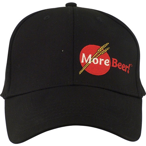 Black MoreBeer! Flexfit Hat - Large/XL