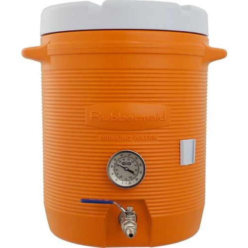 Mash Tun With Thermometer - 10 gal. Cooler