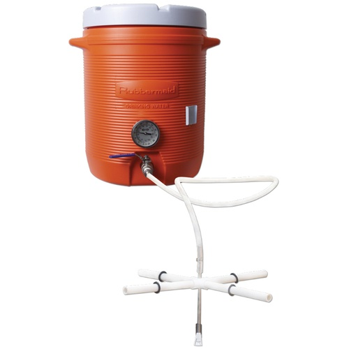 Hot Liquor Tank With Termometer - 10 gal. Cooler