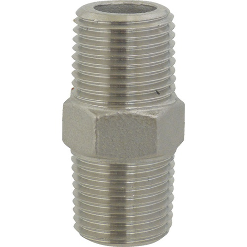 Stainless Hex Nipple - 1/2 in. x 1 3/4 in.