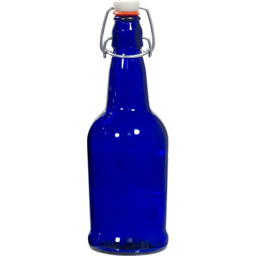 EZ Cap Swing Top Beer Bottles - 16 oz. Cobalt Blue (Case of 12)
